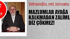 Vahapoğlu, 'D-8 idamları durdurur'