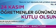 Başkan Sarıaloğlu'nun 24 Kasım mesajı