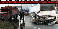 Kıyıcık Mevkiinde Korkutan Trafik Kazası
