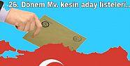 YSK kesin aday listelerini açıkladı