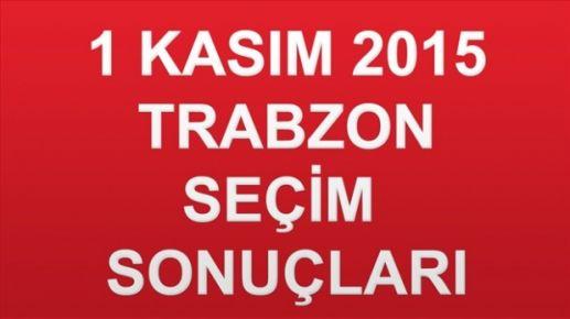 Trabzon Seçim Sonuçları- 1 Kasım 2015 Genel Seçimleri