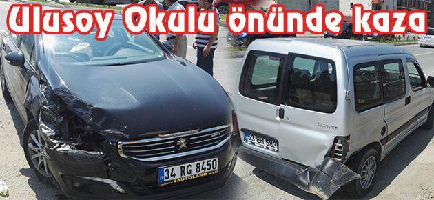 Ulusoy Okulu önünde kaza