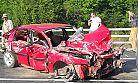 Çaykara yolunda trafik kazası 5 yaralı!